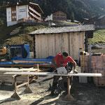 Arbeiten rund um den Stall Schlosskopfparkplatz