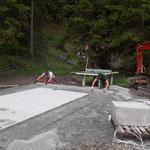 Plattenverlegearbeiten für Tischtennisplatz neu