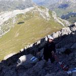 Unsere Alpin-Experten Armin und Toni Richtung Rüfispitz