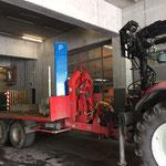 Parkautomat Waldbad Lech - Transport