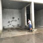 Bauhof-Tankstelle reinigen