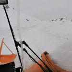 Drittleistung Ski Zürs AG: auffräsen Zürsersee, mit Rolba 1500