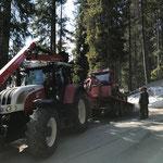 Snow Rabbit 3 verladen Engerle Wald, mit Steyr 6190 CVT und Bigabhänger