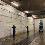 Waschhalle reinigen am Bauhof