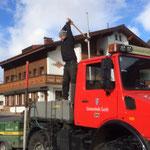 Schneestangen setzen Zug-Lech