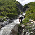 Wasserscheide Zürs, Wasserversorgung nach Gewitter wiederherstellen