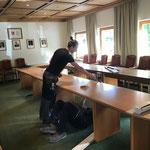 Sitzungszimmer Gemeindeamt abbauen und in 3. Stock verlegen