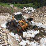 Schneeräumung mit Lader 538 Schwobwanna-Lechweg