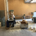Vorbereitungsarbeiten in der Tischlerei, Geländer Weißes Haus