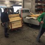 Rückbau und Versorgen Material Viehausstellung