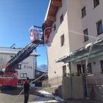 Gemeindehaus Zürs Vordach reinigen