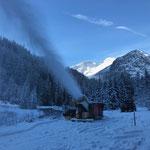 Probebeschneiung Zug Schneeflucht