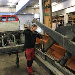 Reparatur Deutz - Containerhänger in der Werkstatt