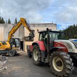 Drittleistung für Heizwerk Lech, Beton- und Asphaltaufbruch zur Deponie Schneider transportieren