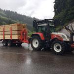 Schnittholz - Rücktransport von der Sägerei in Dalaas