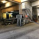 Flachstahl für Arbeiten an der Eisensäge vorbereiten