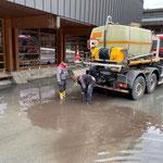 Tagwasserleitung Schule/Tiefgarage öffnen, mit U530