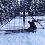 Tor Pflanzgarten unterbauen