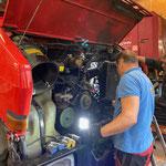 Ausbau Motor Unimog 1600