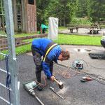 Waldbad Lech, Gatter justieren