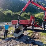 Lechweg, Sanierungsarbeiten nach Unwetter