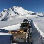 Stangen stellen Höhenweg Gaisbühel