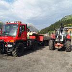 Brückenträger für Übergang Stierlochbach zustellen mit U400