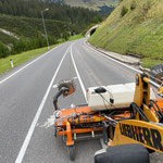 Hilfeleistung für Straßenbauamt, Reinigung L198
