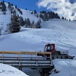 Snow Rabbit 3, Wegepräparierung Zürs-Lech, Brücke Monzabonbach...