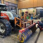 Prismenwalze reparieren am Steyr 6190 CVT...