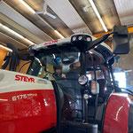 Leihtraktor Steyr 6175 CVT für Rückgabe vorbereiten, Reinigung