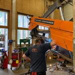 Reparaturarbeiten Deutz-Fahrcontainer