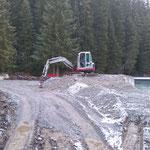 Neubau Vordere Butzenbrücke: Planie verteilen