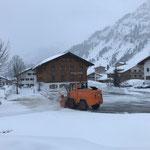 Rolba 600 Schneeräumung auf dem Schlosskopfparkplatz