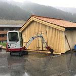 Baggerarbeiten Gemeindestall Zug, Eingangsbereich