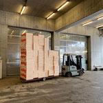 Styropor Auftriebskörper umstellen am Bauhof