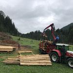 Lawinenholz aufräumen Birchet...