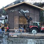 Promenadenlaternen nach Baustelle Strolz Skiverleih wieder stellen