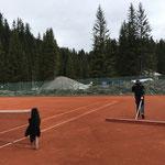 Tennisplätze richten