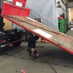 Plattform - Reparatur Holzdielen