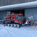 Spazierwegbänke stellen mit Snow Rabbit 3 Zugertal
