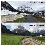 Schnee von gestern: Einzäunen der Umfahrungsstraße Anger 2019