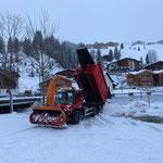 U530, Schneeabkippen...
