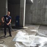 Bauhofräumlichkeiten-Teppich-Intensiv-Wäsche