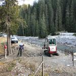 Schneeanlage Schneeflucht Zug: Fertigstellen der Baustelle