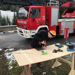 Liftschacht Feuerwehrhaus, provisorische Abdeckung Rückseite konstruieren und montieren