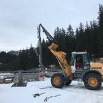 Lawinenorgel zusammenbauen