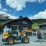 Beleuchtungsstelen stellen Arlbergbrücke, mit Lader 509