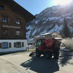 Holder Kehrmaschine, Schlosskopfumkehrplatz