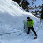 Seilgeländer Burgwaldweg reparieren